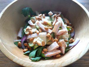 Recept voor koolhydraatarme kip courgette salade