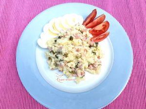 Recept voor koolhydraatarme huzarensalade met bloemkool