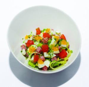 Koolhydraatarme Ham prei salade